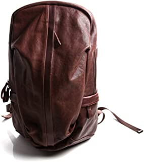 RJW Men's Fashion Retro Backpack/Personalized Leather Travel Outdoor Backpack Fashion (Color : Brown)