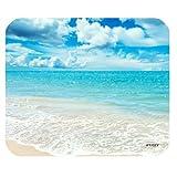 iFUOFF Non-Slip Rubber Hawaii Beaches Sunny Day Rectangular Mousepad