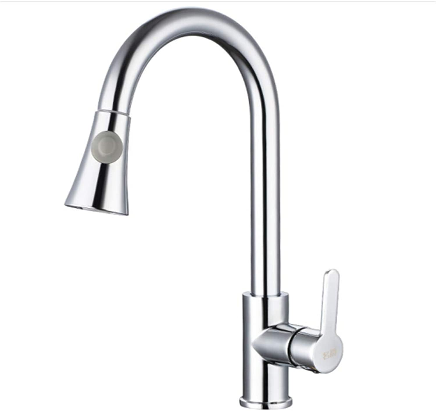 All Copper Main Kitchen Faucet hot and Cold wash Vegetable Basin Sink Pull Faucet