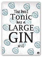 Large Gin ティンサイン ポスター ン サイン プレート ブリキ看板 ホーム バーために