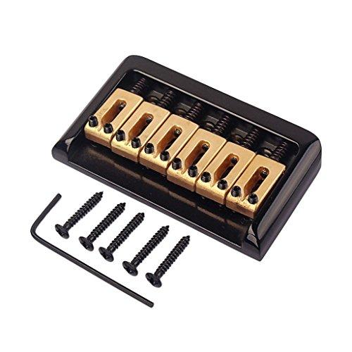 6 Cuerdas Puente con Tornillos de Guitarra Eléctrica Rodillo Saddle Tune o...