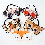 Seacity Cute Animal Sleep Masks, Soft Eye Mask Cover Eyeshade Soft Plush Blindfold Sleep Masks for Kids Girls Men Women for Night Sleeping, Travel, Nap