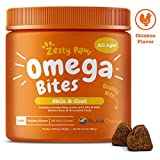 Zesty Paws Omega 3 Alaskan Fish Oil Chew Treats for Dogs - with...