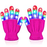Toys for Girls Age 4 5 6 7 8 9 10, Touber LED Flashing Gloves for Kids Gifts for 3-10 Year Old Girls...