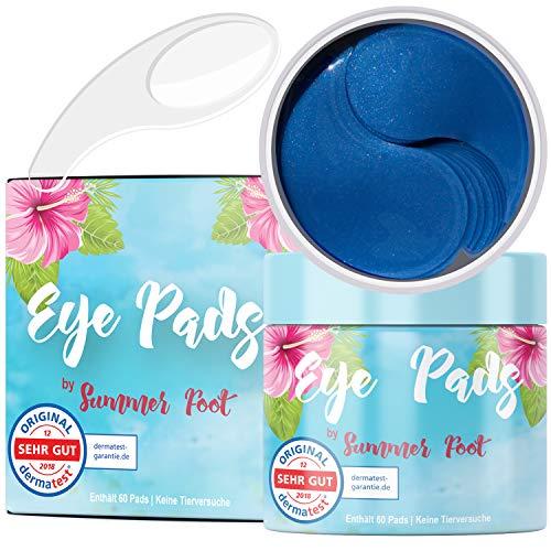 Premium Augenpads by Summer Foot gegen Augenringe I 60 Pads I Tränensäcke und müde Augen I Dermatologisch getestet I Anti Aging Augenpflege für Frau