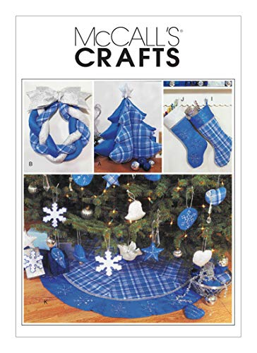 McCall's Sewing Pattern MP619 / M3777 - Christmas Decorations, Wreath, Ornaments, Stockings and Tree Skirt, Size: OSZ (OSZ)
