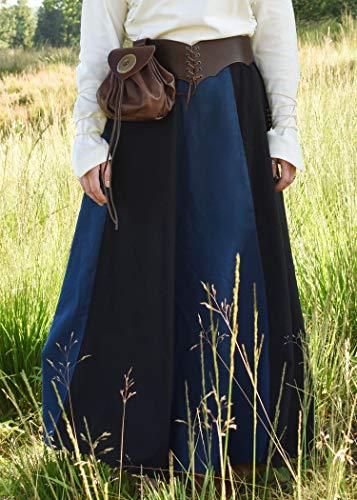 Mittelalterlicher Rock, weit ausgestellt aus schwerer Baumwolle Mittelalter LARP Wikinger Kostüm verschiedene Ausführungen (XXL, Schwarz/Blau) - 2