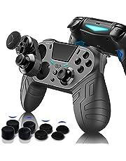 PS4 コントローラー iphone ipad IOS13/14 スマホ ANDROID PC MACBOOK 対応 (FPSゲーム強化版)背面 マクロ ボタン ターゲット ボタン 連射 連射ホールド 機能 付き (黒1)