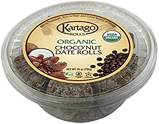 Organic Choconut Date Rolls - Chocolate Date Rolls from Kartago, 28oz Single Pack