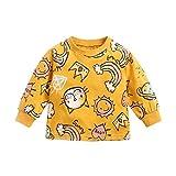 UMore Sudadera para Bebés Niños Niñas Tops Algodón Sudadera Linda Dibujos Animados Ropa de Jersey Camiseta Otoño Invierno 1-4 años