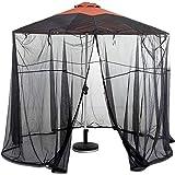 BCXGS Sonnenschirm Moskitonetz Schirm Insektenschutz Fliegennetz Mückenschutz für Gartenschirm Regenschirm Pavillon Gartenpavillon Fliegenschutz,275cm x 230cm