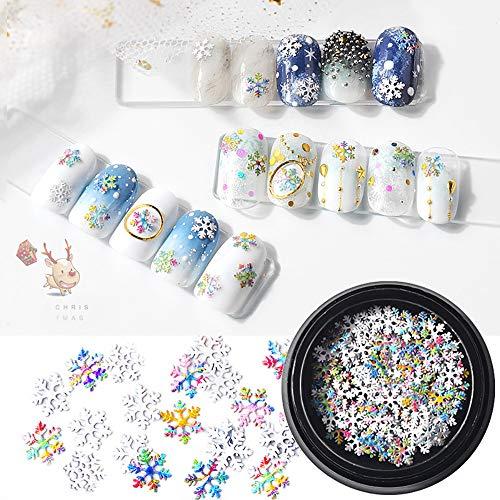 Nouveau Mode Ongles Décorations 1Box Flocon De Neige En Forme Dazzling Nail Autocollant Ongles Art Décoration De Noël Cadeau