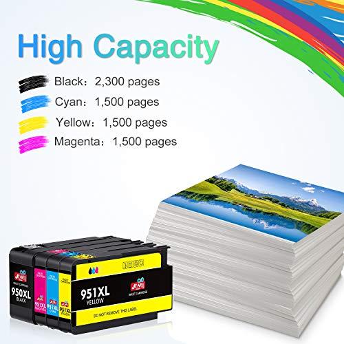 JIMIGO Compatible Ink Cartridge Replacement for HP 950XL 951XL 950 951 for Officejet Pro 8610 8600 8620 8630 8640 8660 8100 8615 8625 251dw 271dw 276dw Printer (3 Black, 2 Cyan, 2 Magenta, 2 Yellow)