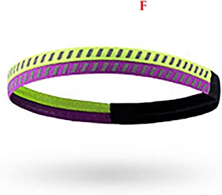 Sports Safety,Outdoor Running Sports Hair Band Hair Ring Elastic Non-Slip Elastic Headband Outdoor Running Fashion Sports Hair Band Hair Band Elastic Sports Hair Band Non-Slip Elastic Hair Band F