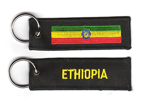Schlüsselanhänger Äthiopien Anhänger Fahne Flagge FLAGGENMAE®