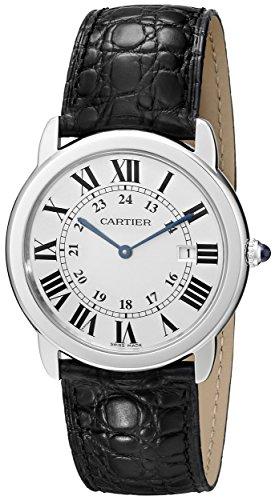 Cartier ronde solo da uomo in acciaio orologio W6700255