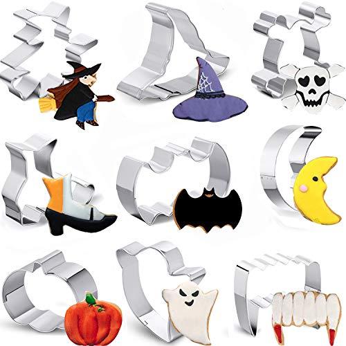 Boao 9 Stücke Halloween Ausstecher Satz Sandwich Ausstecher Edelstahl Ausstecher Keks Ausstecher Formen für Halloween Party Küche Heim Party Lieferungen