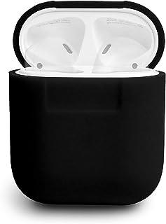 elago AIRPODS CASE AirPods ケース 専用 シリコン 製 シンプル 保護 カバー [ アップル エアーポッズ ] ブラック