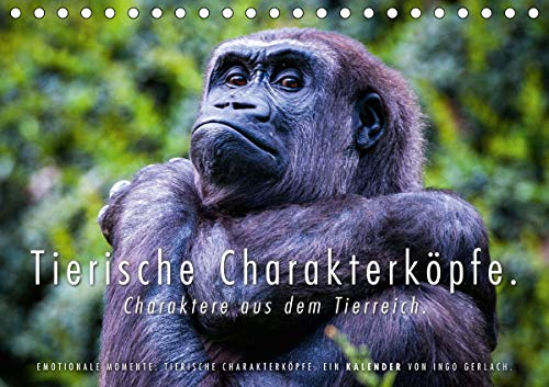 Tierische Charakterköpfe (Tischkalender 2021 DIN A5 quer)