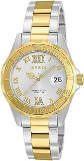 Invicta Pro Diver 12852 - Reloj con detalles de cristal con esfera dorada, doble tono.