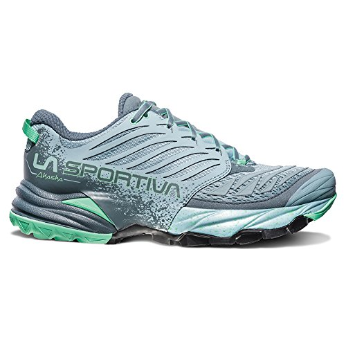 La Sportiva Akasha Running Shoe - Women's, Stone Blue/Jade Green, 40