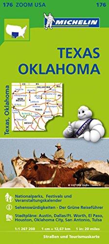 Michelin Texas Oklahoma: Straßen- und Tourismuskarte 1:1.267.200 (MICHELIN Zoomkarten)