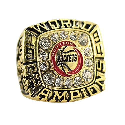 CLCL NBA Houston Rockets, Liga Profesional de Baloncesto, Anillo de Campeonato, para Ventiladores de Recuerdo, réplica de Anillo Creativo para Mujeres y Hombres, sin Caja