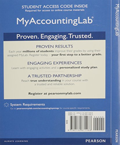 NEW MyLab Accounting with Pearson eText -- Access Card -- for Introduction to Management Accounting