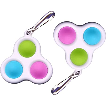Portable Stress Relief Handheld Toys 2021 Simple Dimple Fidget Toy Push Pop Bubble Keychain Sensory Toys Anti-Anxiety Autism Hand Toy for Home,Classroom,Office