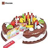 Set di giocattoli per torta per bambini, gioca a torta di compleanno Regalo per bambini Gioca a set di giocattoli per alimenti Taglio fai da te Fai Torta di per bambini Giocattolo classico per bambini