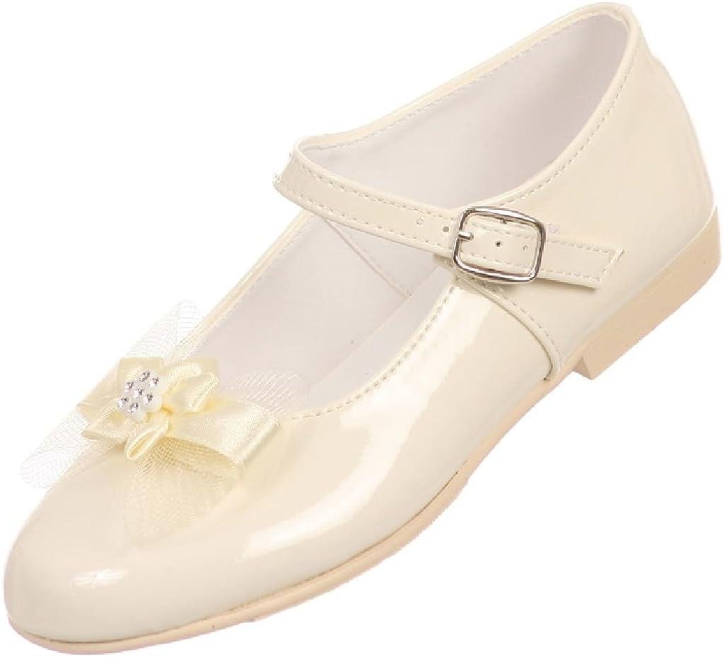 Angel Girls Patent Ankle Strap Buckle Dress Shoes (Toddler Girl/Little Girl/Big Girl)