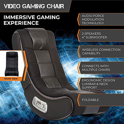 X Rocker V Rocker 5130301 SE Video Gaming Chair, Wireless, Black with Grey