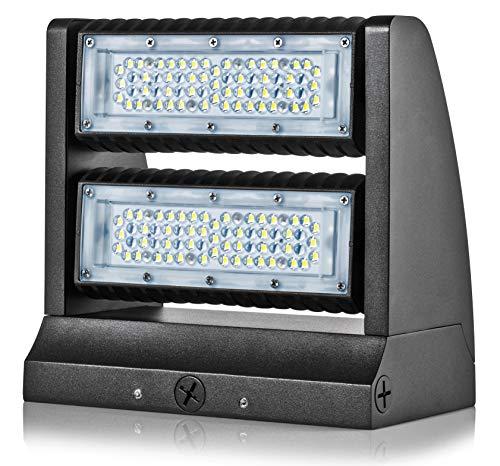 Hyperikon LED Wall Pack Rotatable, Outdoor Area Light Fixture, UL, DLC, IP65 Waterproof, 80 Watts