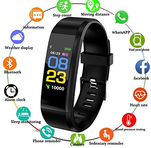 HUG PUPPY ID115 B Bluetooth Smart Fitness Band Watch for Men/Women with Heart Rate Activity Tracker