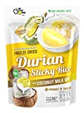 Chimma Freeze Dried Durian w/ sticky rice&coconut milk dip - Thailand Crispy Fruit Snack...
