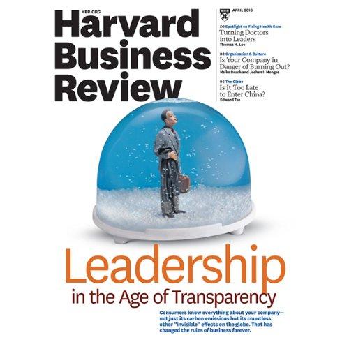 Harvard Business Review, April 2010 audiobook cover art