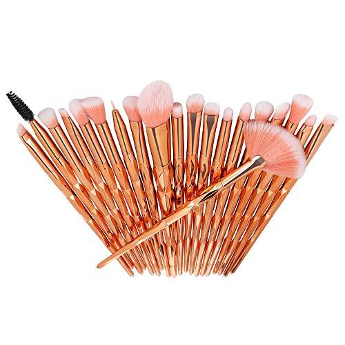 Make-up Pinsel, Nincee 20er Premium Kosmetik Make-up Pinsel Set zum Mischen von Foundation Powder Blush Concealers Textmarker Lidschatten Pinsel Kit (Roségold)