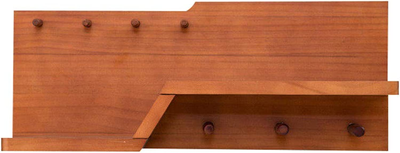 Wall-Mounted Coat Rack, Solid Wood Storage Rack Clothes Hook, Porch Living Room Bedroom Bathroom Kitchen
