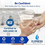 Express Water RO5DX Reverse Osmosis Filtration NSF Certified 5 Stage RO System with Faucet and Tank – Under Sink Water… 10 Reverse Osmosis Water Filter: Experience what water should taste like with the Express Water reverse osmosis water filtration system removing up to 99.99% of Lead, Chlorine, Fluoride, Nitrates, Calcium, Arsenic, and more. Water Purification System: Drink the healthiest water on Earth. All our water filters are specially engineered to work together, producing the safest and best tasting water you'll ever drink Under Sink Water Filter: Don't waste money on professional installation. Express Water's quick and easy-to-understand design means you can install and understand everything about your new water filtration system