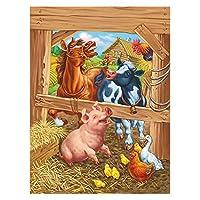 2つの絵のためのDiyキャンバス油絵キット、3つの絵筆で塗装絵画を描く塗装服 - 馬の動物 (Size : 50x60cm)