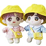 Kpop Shinee EXO NCT Bangtan Boy 15cm 20cm Doll's Clothes Hat +Top + Shorts +Bag【no Doll】 (Pink Set【no Doll】, Suitable for 20cm Dolls)