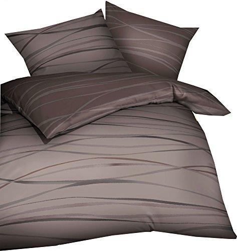 Kaeppel Mako Satin Bettwäsche mit Reißverschluss 135x200 80x80 cm (584 braun)