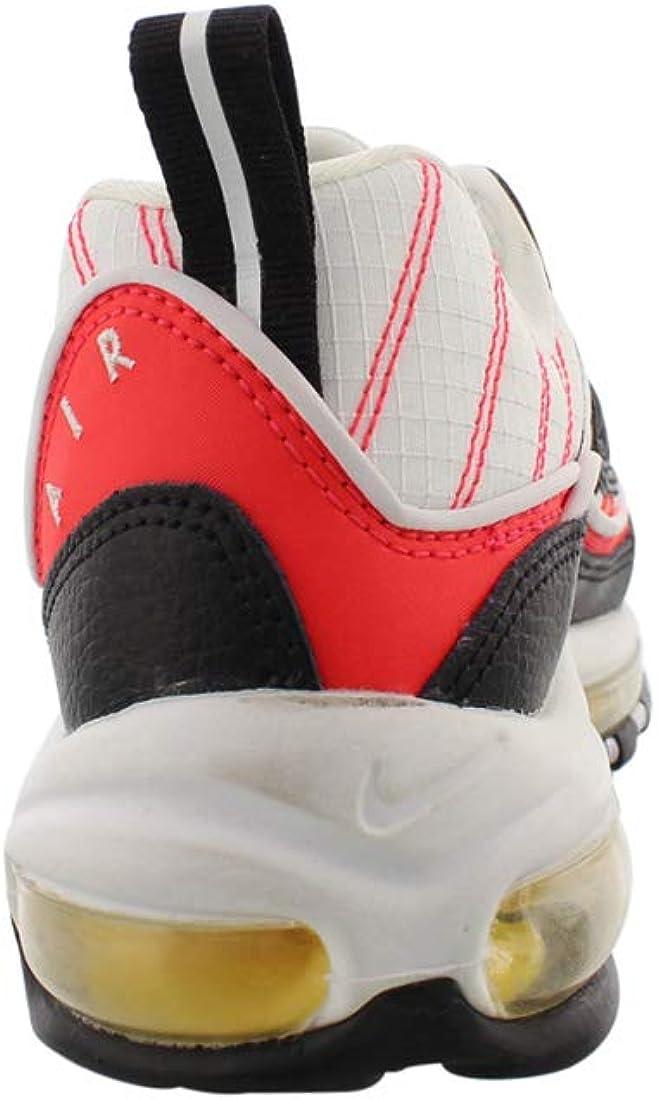 Nike Air Max 98 Boys Shoes Size 6, Color: Black/Bright Crimson/Orange/Yellow/White