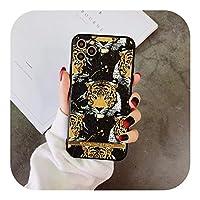 SUPEIL TigerLeopardリッチモンドフィンチケースFor iPhone 12 11 pro X XS MAX XR 8 7Plusスタイリッシュな3Dレリーフソフトシリコンカバー-1-for iPhone 8 Plus