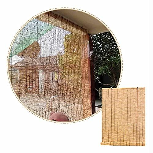 Persianas De Caña Natural-estores De Bambú Retro-cortinas De Caña Para Patio,ancho 50cm 60cm 70cm 90cm 120cm,para Exterior/interior,persianas Romanas,tamaño Personalizado,W×H-100x200cm/39.5x79in