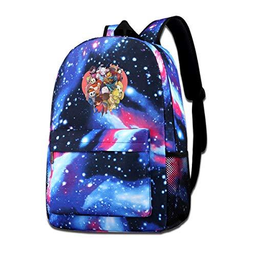 BILLYHERBERT Undertale Frisk Toriel Sans Papyrus Anime Galaxy Laptop Computer Backpack Casual Daypacks Travel Backpacks Bag Work Bookbag Business Laptops Backpack College School Travel Bag Blue
