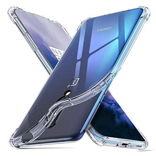 ORNARTO Hülle für OnePlus 7 Pro, Transparent Soft TPU Silikon Handyhülle Vier Ecke Kante Stoßdämpfung Design Kratzfest Durchsichtige Schutzhülle für OnePlus 7 Pro(2019) 6.67 Zoll Klar