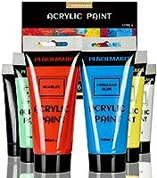 PENCILMARCH Akrylfärg set 100 ml x 6 färger