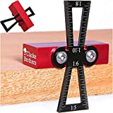 Dovetail Marker – Wood Dovetail Tool – Woodworking Hand Tool for Crafts – Precise Dovetail Guide with 1:5, 1:6, 1:8 and 1:10 Slopes – Extra-Large Body – Ergonomic Design
