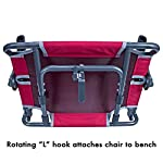 GCI Outdoor Big Comfort Stadium Chair with Armrests, Aluminum, Royal, One Size